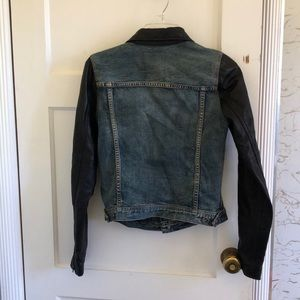Madewell Jackets & Coats - Madewell Denim Leather Jacket